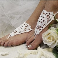 BF2 Barefoot Sandals-barefoot sandals, wedding shoes, anklets for women,barefoot sandal, footless sandles, beach wedding sandal, slave sandals, bridal barefoot sandals, wedding barefoot sandals,foot jewelry, pearl barefoot