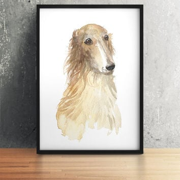 Greyhound poster Watercolor dog print Cute nursery decor ACW88
