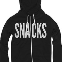 Snacks Zip-Up Hoodie (Black and White) - Daily Grace - Official Online Store on District LinesDistrict Lines