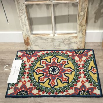 Moroccan Medallion Multi-Colored Mat