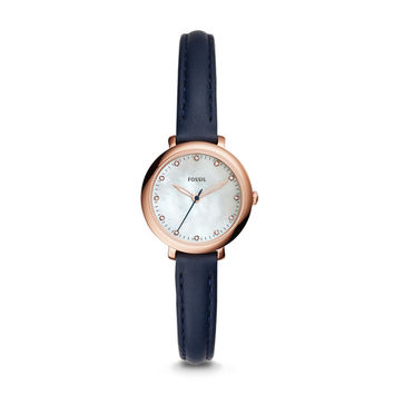 Jacqueline Mini Three-Hand Indigo-Dyed Leather Watch - $125.00