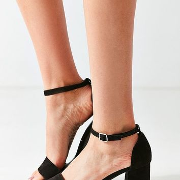 Faux Suede Linda Heel | Urban Outfitters