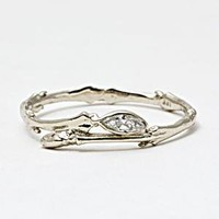 BITTERSWEETS NY Marquise Twig Ring