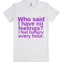 Feelings-Female White T-Shirt