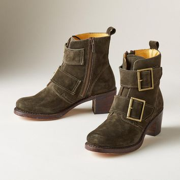 Sabrina Double-Buckle Boots