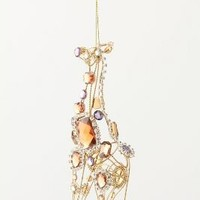 Jeweled Menagerie Ornament, Giraffe-Anthropologie.com