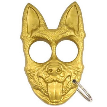 Defense Pup Key Chain- Gold
