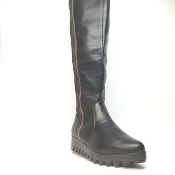 DBDK Fashion Leather Knee Boots