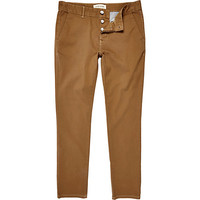 River Island MensLight brown skinny stretch chinos