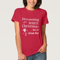 White Christmas Women's Shirt - Holiday Clothing