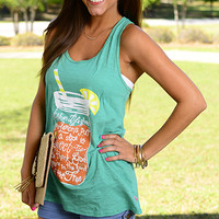Sweet Tea Tank, Green