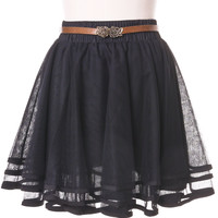 Delicacy Triple Layers Tutu in Black Black