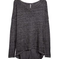 H&M - Jersey Top - Black