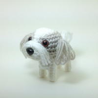 Shih Tzu Amigurumi Stuffed Animal Dog Crochet Puppy Doggie Plush Doll / Made to Order