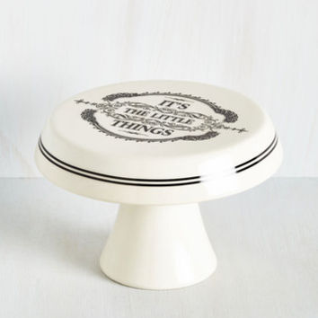 Sayings Absolutely Positive Cake Stand by ModCloth