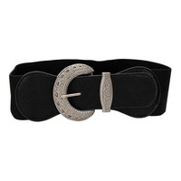 Black Retro Leather Belt