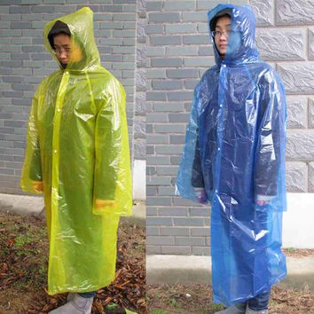Outdoor Cheap Slicker PE Waterproof Motorcycle Rain Proof 4 Wire Thickness Bicycle Rain Gear Bicycle Poncho For Travel Climbing