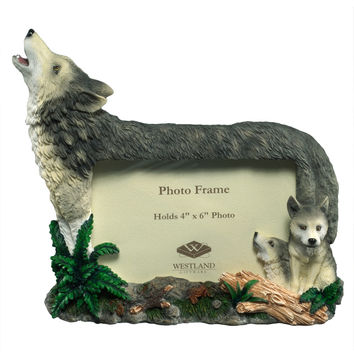 Mother Wolf And Cubs Picture Frame