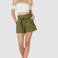 Olive For The Moment Shorts