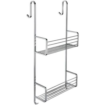 BA Hotel Shower Hanging Caddy Double Shelf Organizer for Shampoo, Soap - Brass
