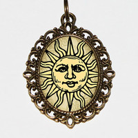 You Are My Sunshine Necklace, Oval Pendant