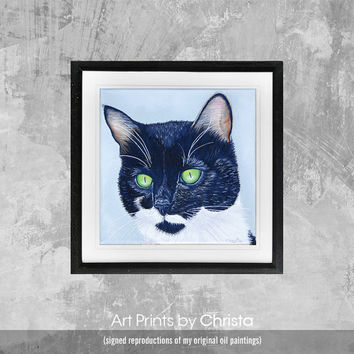 Cat print-Poster, Wall art, pets, cat portrait, cat poster, Nursery decor oil painting Gift,kids room decor, Digital Print, Art Print, ART