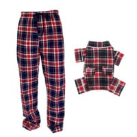 * PRE-ORDER NOW * Matching Human + Dog Blue Plaid PJ Set
