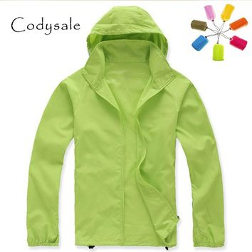 Codysale Outdoors Clothing 2017 Casual Windproof Jackets Workout Quick-Dry Waterproof Hoodied Coats Plus Size Ultra-light Women