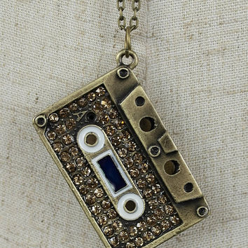 Radio Cassette Necklace Pendant
