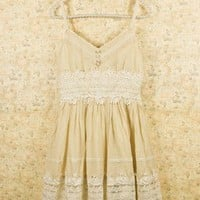Got a Date Retro Lace Dress - Retro White & Nude Collection - Dress - Retro, Indie and Unique Fashion