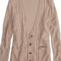 AEO Women's Factory Cable Knit Cardigan