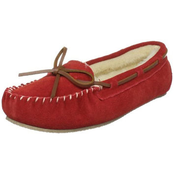 Tamarac Womens Molly Suede Faux Fur Moccasin Slippers