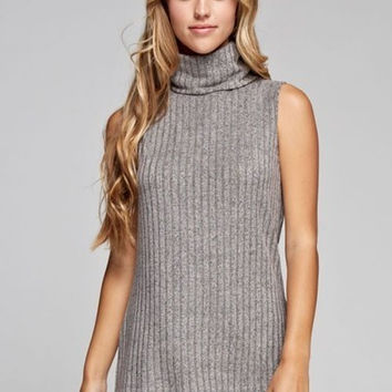 Sweet Mello Cowl Neck Sleeveless Knit Top