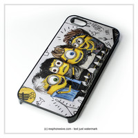 5Sos She Looks So Perfect Minions  iPhone 4 4S 5 5S 5C 6 6 Plus , iPod 4 5 , Samsung Galaxy S3 S4 S5 Note 3 Note 4 , HTC One X M7 M8 Case