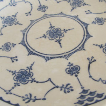 Delft Blue Plate Royal China Blue and White Plate Delft Holland Decor