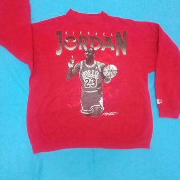 MDIGUG7 Michael Jordan Legend Bulls sweatshirt long sleeve vintage