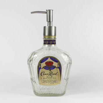 Crown Royal Dispenser, Soap Dispenser, Lotion Dispenser, Upcycled Bottle