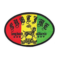 Sublime Men's Rasta Lou Embroidered Patch Multi