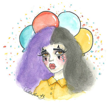 Cry Baby Clown Art Print