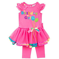 Rare Editions 12-24 Months Birthday Girl Tutu Dress & Leggings Set - F
