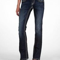 Miss Me Zebra Glitz Boot Stretch Jean