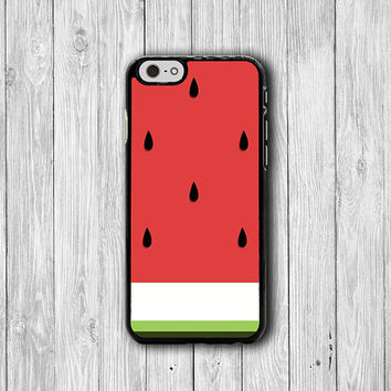 Tropical Watermelon iPhone Cases, Cute Cartoon iPhone 6 Cover, iPhone 6 Plus, iPhone 5, iPhone 4S Hard Case, Rubber Deco Accessories Gift
