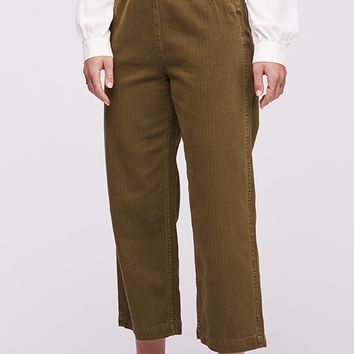 Clean Mod Utility Crop Pants - Moss by Free People