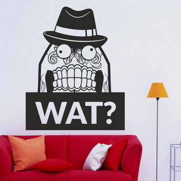 I168 Wall Decal Vinyl Sticker Art Decor Design  Wat Sign hat question surprise posterroom Mural Living Room Bedroom Modern Gift