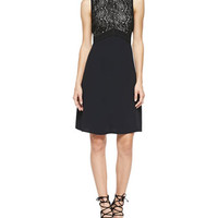 A.L.C. Varney Sleeveless Floral Lace-Bodice Dress