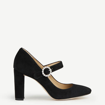 Elaine Suede Mary Jane Pumps | Ann Taylor