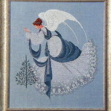 Ice Angel - Counted Cross Stitch Leaflet - Lavender & Lace