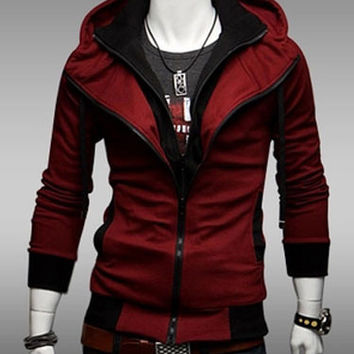 Mens Anime Hoodie in the style of Assassins Creed