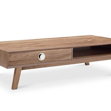 Victory Rect Coffee Table WALNUT/SILVER