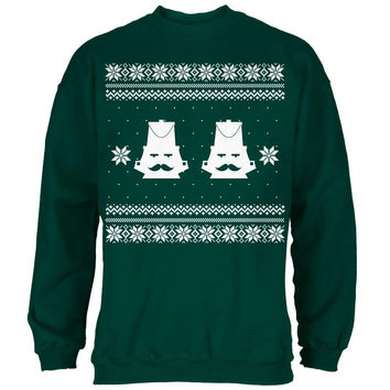 Nutcracker Full Color Ugly Christmas Sweater Black Adult Crew Neck Sweatshirt